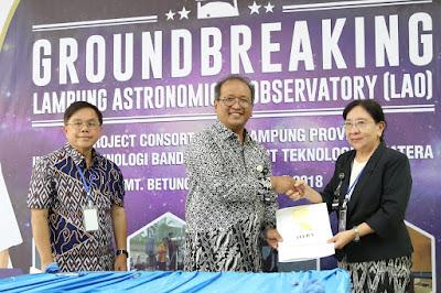 Ground Breaking LAO Tonggak Sejarah Gubernur Ridho Bangun Observatorium Terbesar Se-Asia