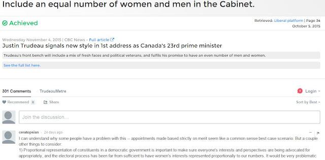 TrudeauMetre list of Justin Trudeau's promises