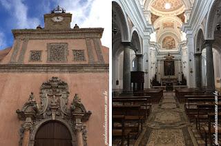 Igreja de São Martinho, Erice, Trapani - interior e fachada