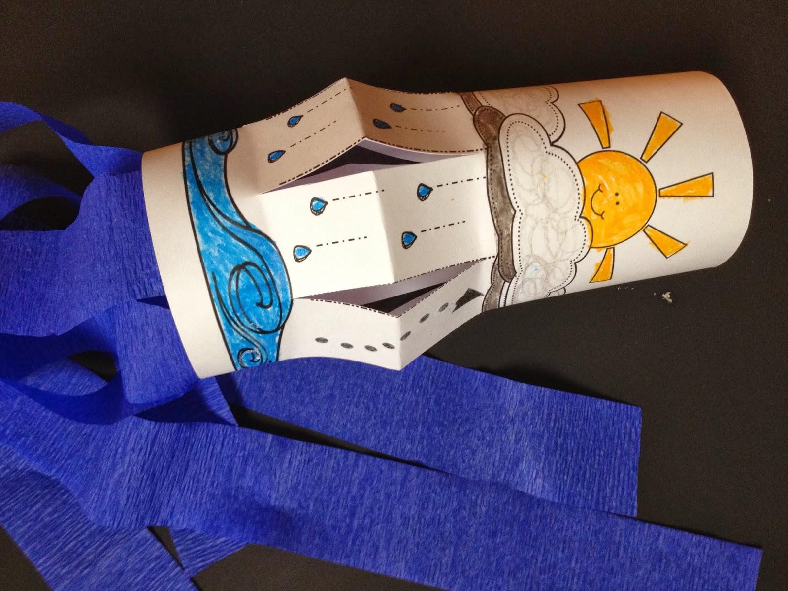 Sweet Tea Classroom Water Cycle Wind Sock Craft For Weather Science Fun