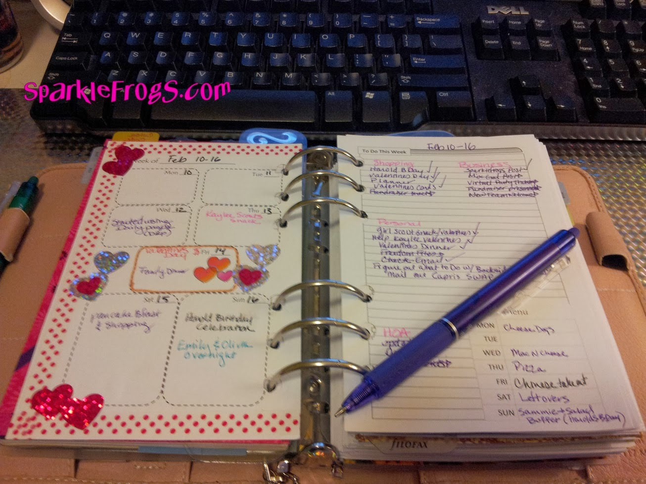 Sparkle Frogs Free Planner Weekly And Daily Inserts For