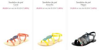 sandalias de piel planas 2