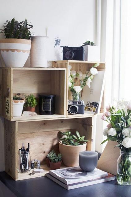 10 id es pour recycler une caisse en bois. Black Bedroom Furniture Sets. Home Design Ideas
