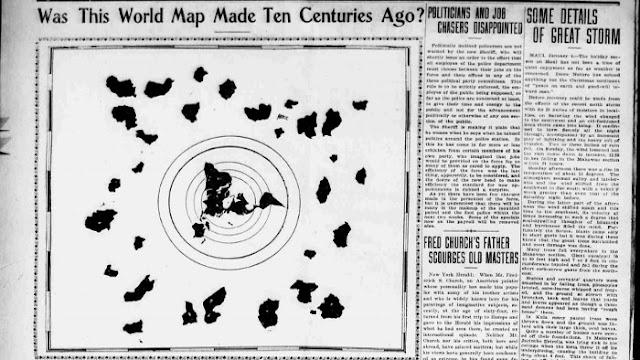 manuskrip peta bumi datar