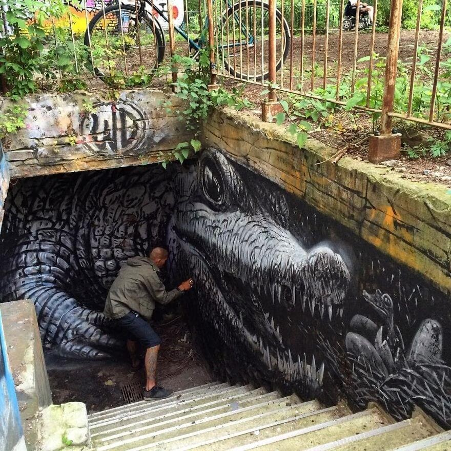15-Crocodile-and-it-s-babies-Wild-Drawing-WD-Bringing-Murals-Art-and-Color-to-our-Cities-www-designstack-co