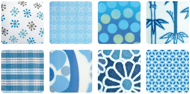 Blue decorative pattern