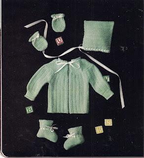 Seed Stitched Baby Set Pattern