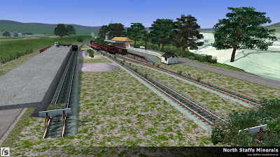 Fastline Simulation - North Staffs Minerals: 9T20 is seen shunting traffic at Cheadle Yard in North Staffs Minerals, a route for RailWorks Train Simulator 2012.
