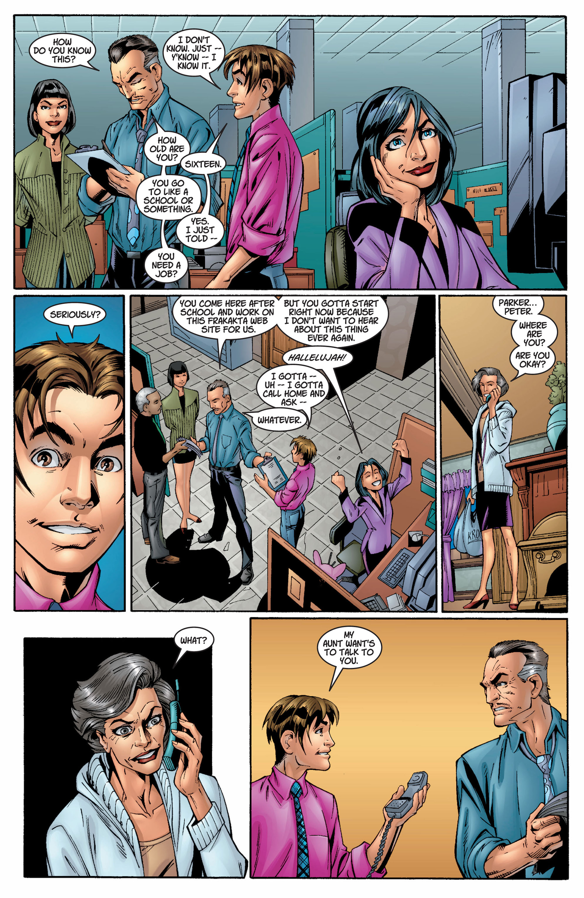 Read online Ultimate Spider-Man (2000) comic -  Issue #8 - 14