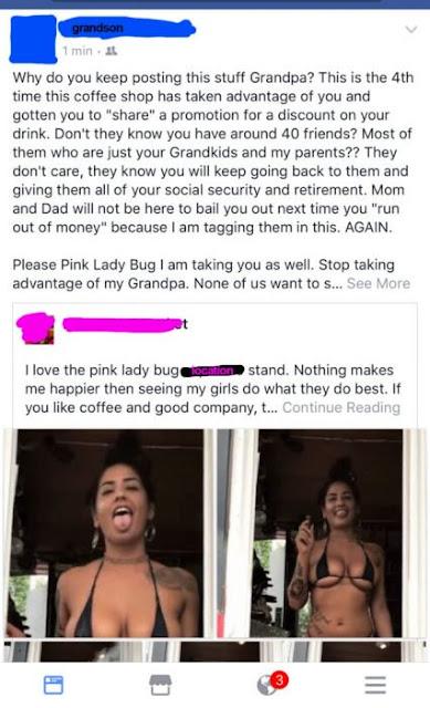 Abuelito de 85 años publica fotos de mujeres sexis… Su nieto lo regaña a él y a ellas