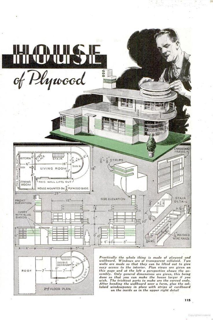 Art Deco Rail N Gauge Models Modernist House Plans