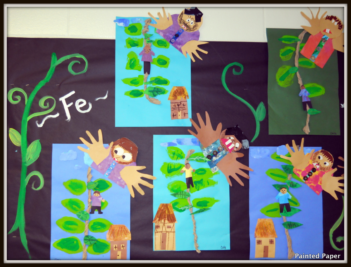 Painted Paper Fe Fi Fo Fum Jack And The Beanstalk