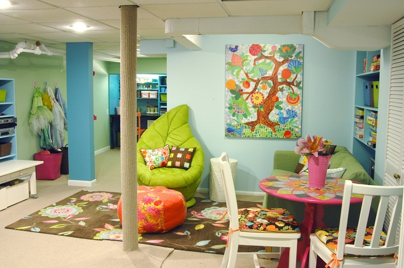 Decorating Ideas For Fun Playrooms And Kids Bedrooms: Crazy Doodles: Creative And Fun Kids Playroom Design Ideas
