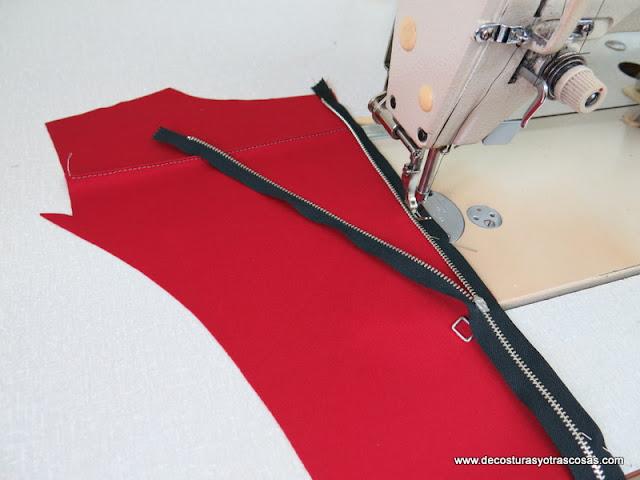 coser una cremallera paso a paso