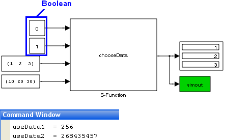 How to input a boolean to a Simulink C s-function - Stack Overflow
