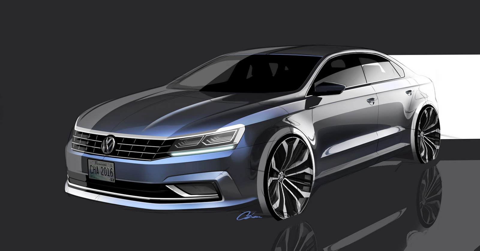 2016 vw passat is not the major facelift we were expecting carscoops. Black Bedroom Furniture Sets. Home Design Ideas