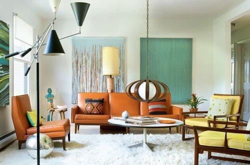 บ้านแสนรัก: ห้องนั่งเล่นสไตล์เรโทร Retro Style living room