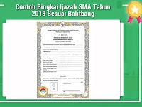 Contoh Bingkai Ijazah SMA Tahun 2018 Sesuai Balitbang