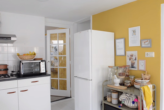 parede amarela, kitchen, cozinha, decor, home decor, a casa eh sua, acasaehsua, interior design, interior