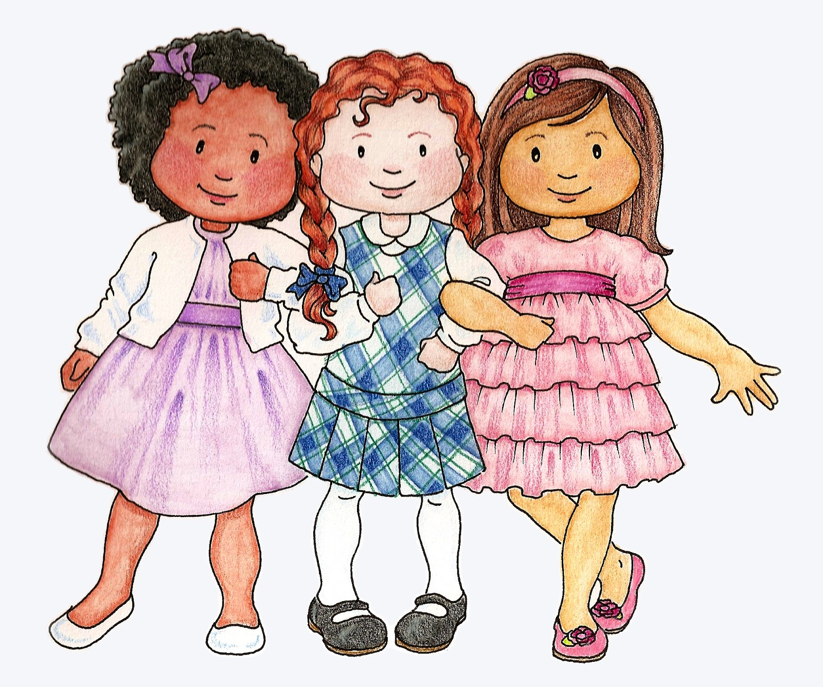 susan fitch design: Primary Kids Clip Art