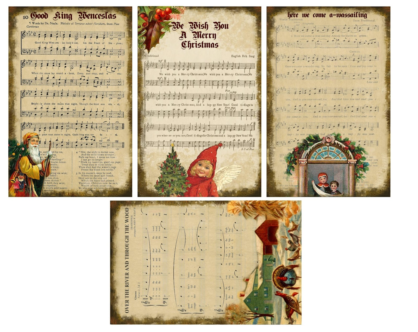 Penniwigs Free Graphics Printables Paper Fun Lore And More Printable Christmas Carol Tags