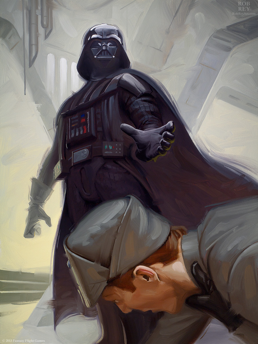 Force Choke by Rob Rey - robreyart.com