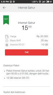 Paket internet super murah, telkomsel sahur