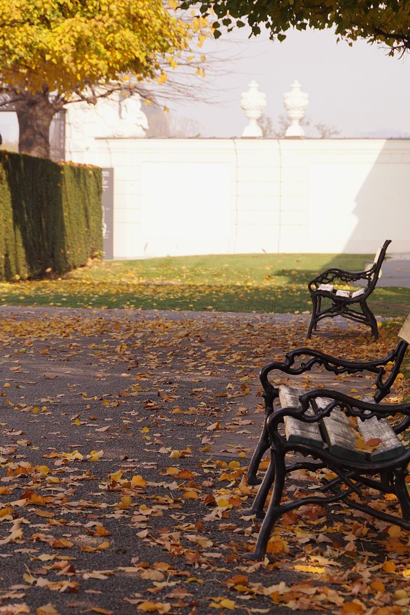 Belvedere Castle Park, Vienna, in Autumn