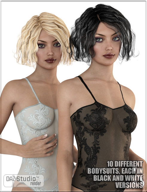 Sexy Skinz - Lace Bodysuits for Genesis 3 Female