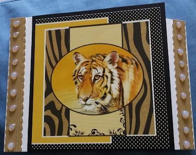 Tiger C6 gatefold card using a Pollyanna Pickering image