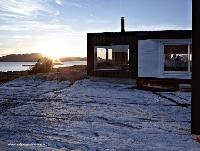 Perfil de una cabaña contemporánea nórdica