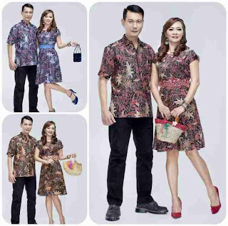 Model Desain Baju Batik Couple