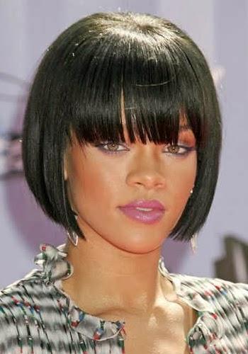 Rihanna Black Celebrity Bob Hairstyles Free Wallpapers
