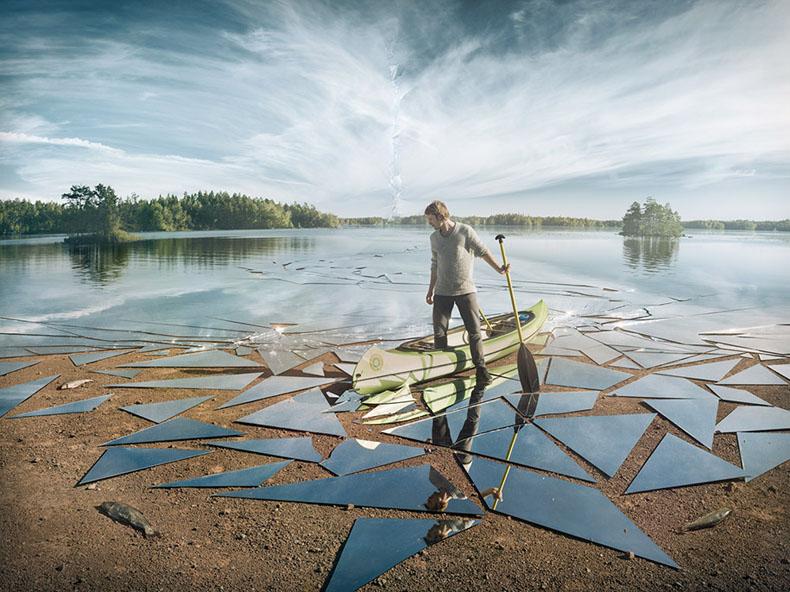 Fotógrafo usó 17 metros cuadrados de espejo para tomar esta impresionante foto