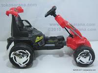 3 Mobil Mainan Aki PLIKO PK8218N GOKART dengan Kendali Jauh