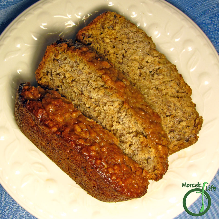 Morsels of Life - Caramelized Banana Bread - Take your banana bread to the next level by baking some sweet caramelized bananas into a scrumptious banana bread.