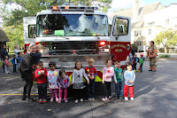 Cleveland Heights Firefighters visit Fairmount Church Cooperative Preschool