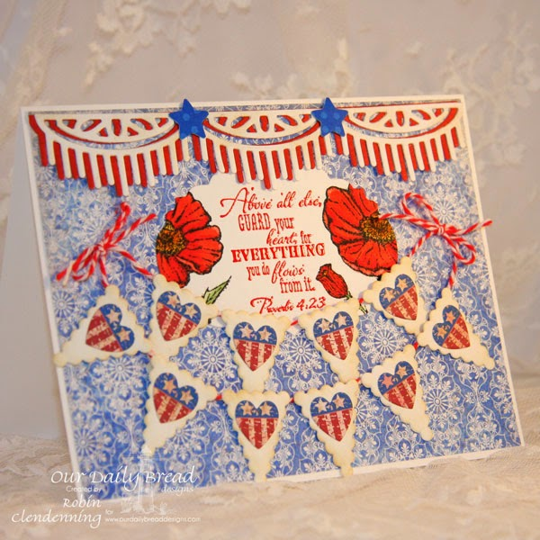 Poppy, Heart and Soul, Pennants, Vintage Labels, Ornate Hearts, Beautiful Borders, Christian Faith Collection, Heart and Soul Collection, Designer-Robin Clendenning
