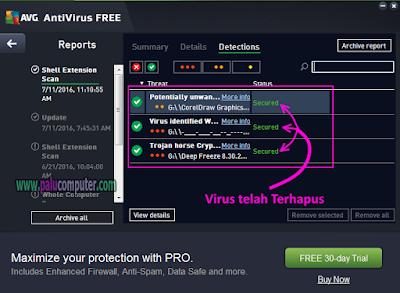 virus terdeteksi avf