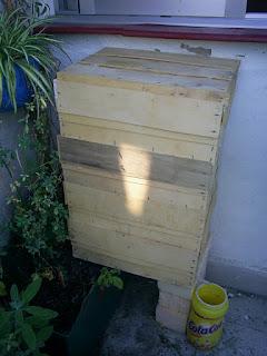 compostador de madera