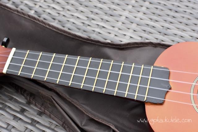 Ashton UKE100 Soprano Ukulele fingerboard