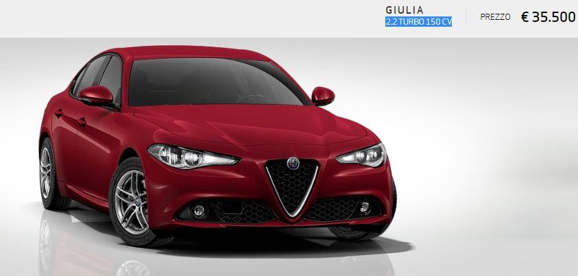 Alfa Romeo Giulia colore Pastello-Rosso Alfa