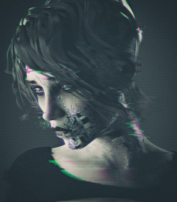 Kenneth Kenn Little AGhostInEveryRoom arte ilustrações ficção científica 3d renders robôs mulheres cyberpunk futurista