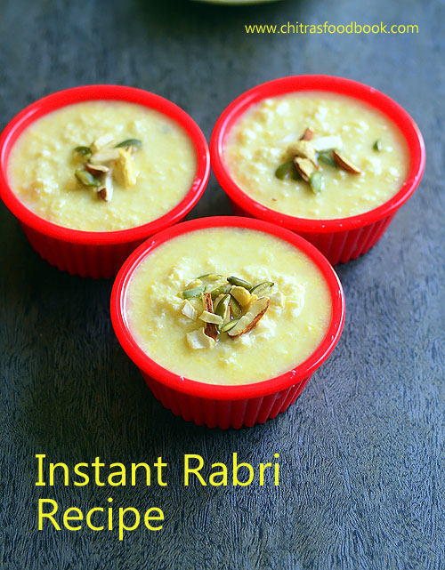 Instant rabri recipe in microwave easy rabdi recipe chitras instant rabri recipe using microwave forumfinder Images