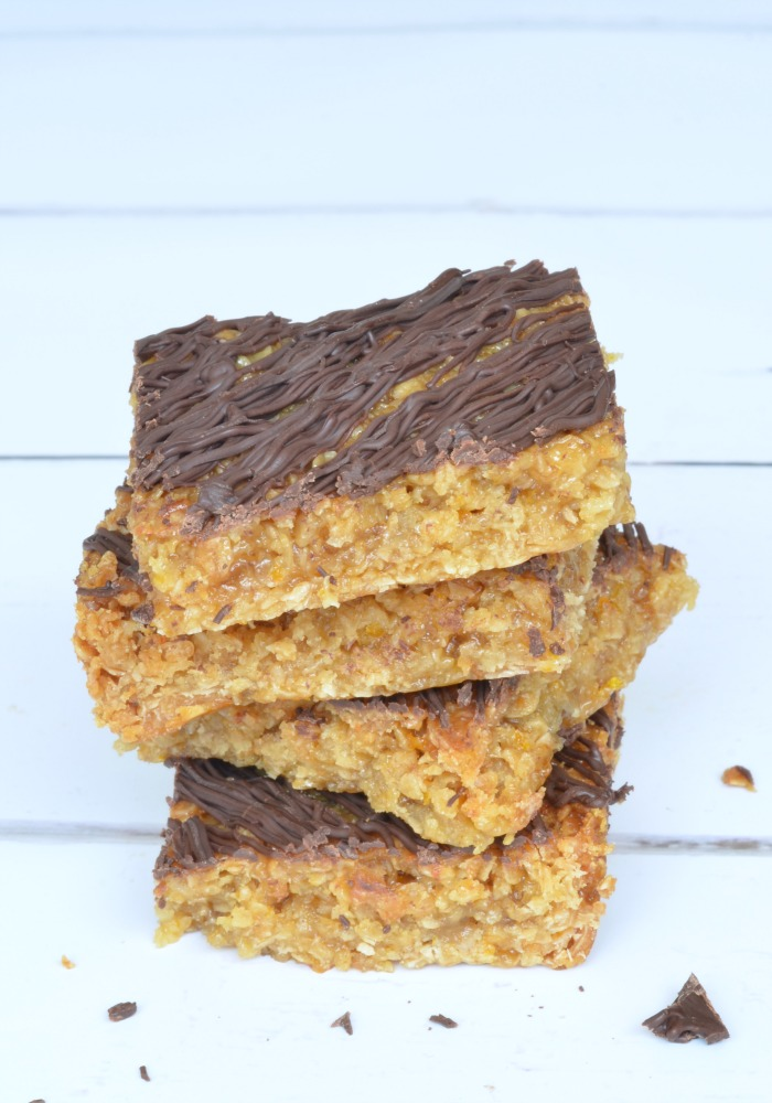Sticky Chocolate Orange Flapjacks