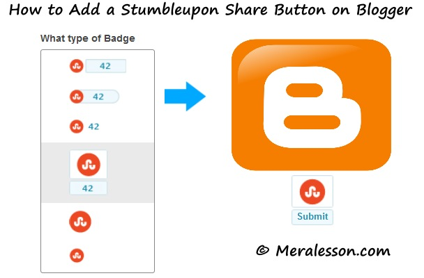 How to Add Stumbleupon Share Button on Blogger