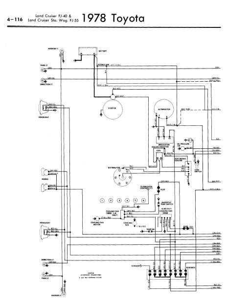 repairmanuals: Toyota Land Cruiser FJ4055 1978 Wiring Diagrams