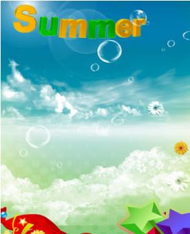 ملف psd لفصل الصيف