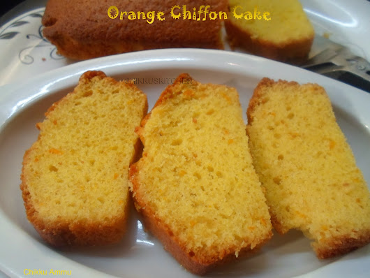 Orange Chiffon Cake / Soft Orange Spongy Cake