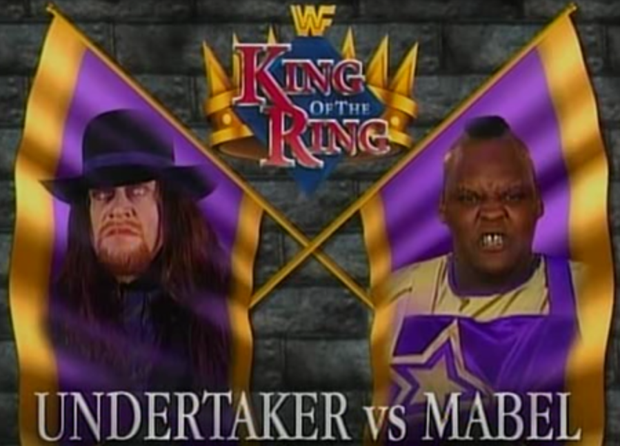 WWF / WWE - King of the Ring 1995 - Mabel beat Undertaker in the last quarter final match